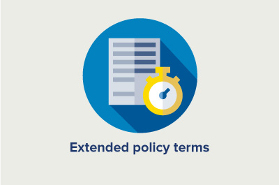 Infographic showing extended policy term