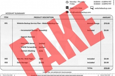 Invoice fraud:  educating your clients