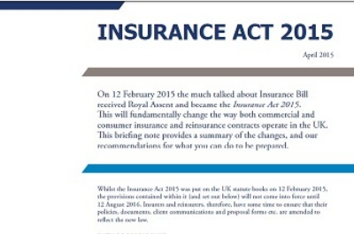 Insurance Act 2015 - Client briefing note