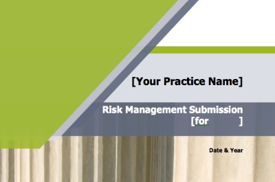 Risk Management Submission Template